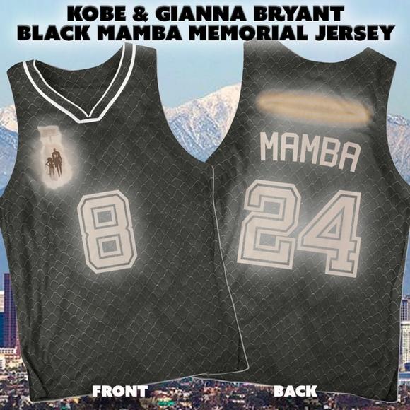 Kobe & Gianna Bryant Black Mamba Memorial Jersey